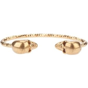 Alexander McQueen Crystal Twin Skull Bracelet